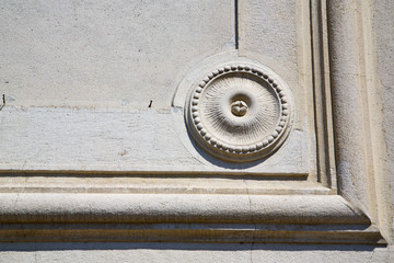 castronno lombardy italy  varese    wall of a curch circle  patt