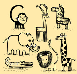African Savannah animals
