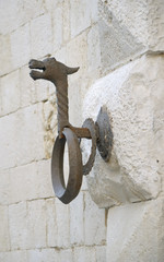 iron ring to attack the horses in Giovinazzo, Apulia - Italy