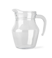 Empty glass jug with clipping path