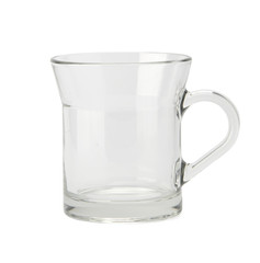 Empty glass with clipping path