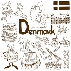Collection of Denmark icons