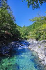 長野県、阿寺渓谷