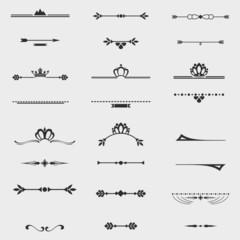 Collection of twelve vintage frames for design