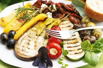 Antipasti, mediterran, vegetarisch, vegan