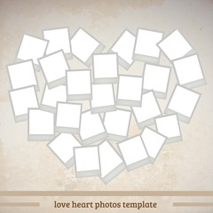 love shape instant photo frame