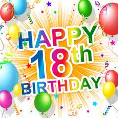 Birthday Eighteenth Indicates Celebrating 18 And Celebration