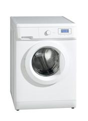 Washing machine isolated on the white background