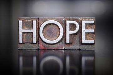 Hope Letterpress Wall mural