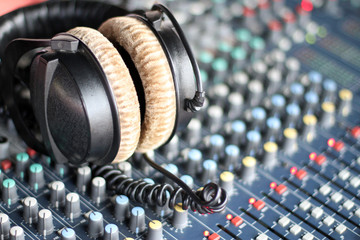 Headphones and Sound Mixer