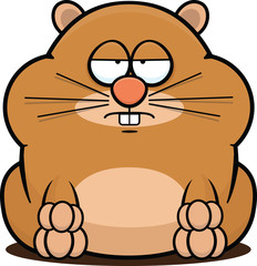 Cartoon Hamster Tired