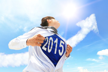 Welcome 2015 New year concept