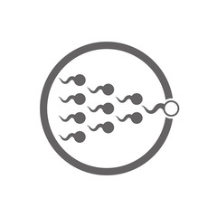 Sperm cells vector icon isolated.