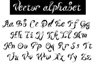 type. decorative alphabet