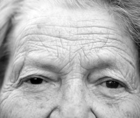 Close up portrait of older lady