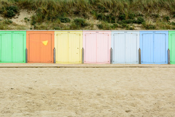 Wall Mural - Beach cabines in Domburg, Netherland