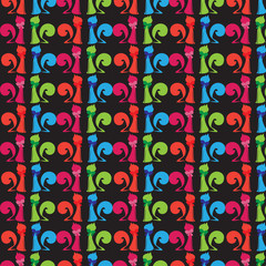 colorful cat pattern 3