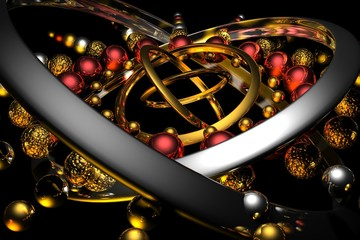 3D Art abstraction light color