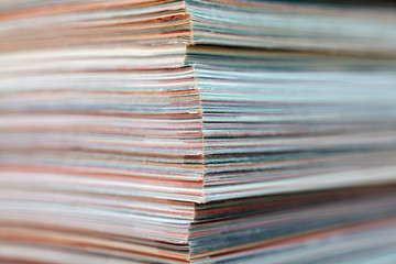 Stack of magazines detail. Recycle concept.