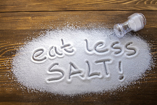 Eat less salt – medical concept