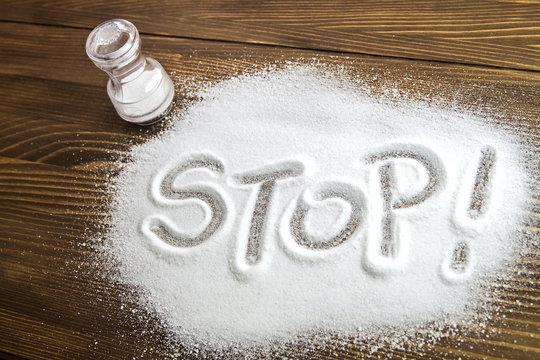 Stop salt – medical concept