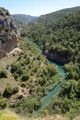 Júcar River in Cuenca, Castilla La Mancha, Spain.