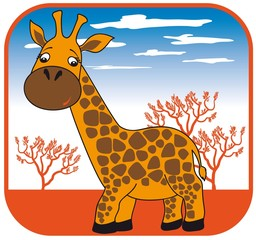 giraffe vector hand drawn