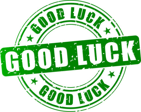Vector good luck stamp