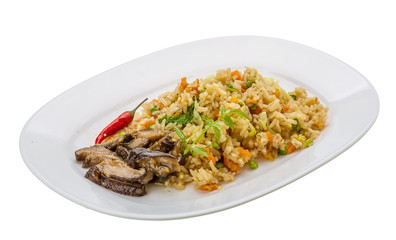Fried rice with mushrooms