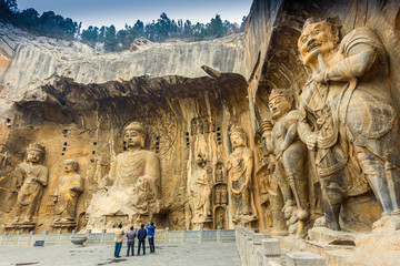 Photo sur Plexiglas Chine Longmen Grottoes with Buddha's figures