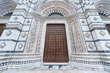 Fototapete - Entrance of Cattedrale di Siena, Siena , Italy
