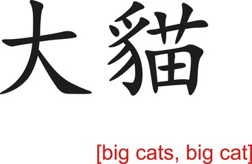Chinese Sign for big cats, big cat