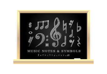 Handwritten musical notes