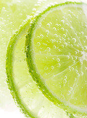 Background with fruit lime