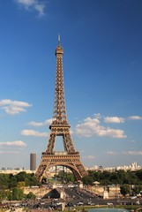 Eiffel Tower on a sunny day in Paris