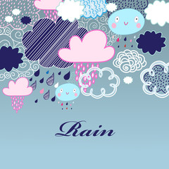 pattern of clouds and rain