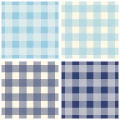 Gingham seamless backgrounds