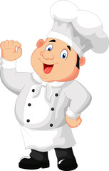 a gourmet chef giving an okay sign