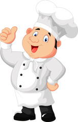 Chef cartoon giving thumb up