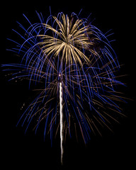 Blue & White Fireworks Isolated