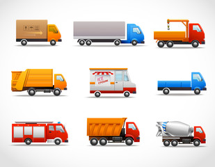 Realistic Truck Icons