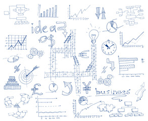 Business sketch infographic
