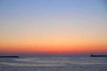 Sunset on a sea beach