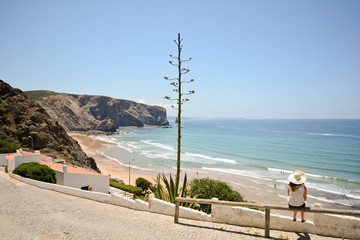 Praia da Arrifana Surfer Beach, West coast Algarve Portugal