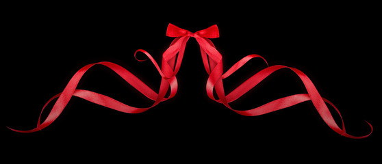 colorful gift bows with ribbons