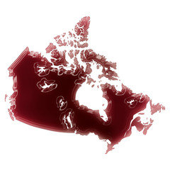 A pool of blood (or wine) that formed the shape of Canada. (seri