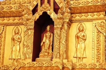 Golden Buddha background.