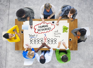 People in a Meeting and Human Resources Concept