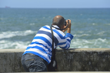 Photographer tourist man