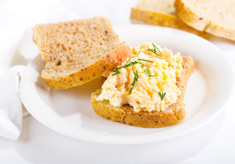 sandwich with egg salad